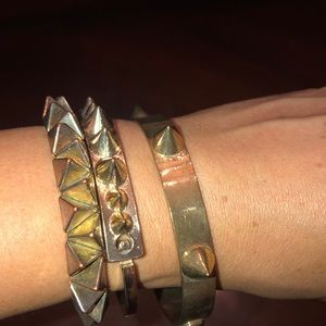 Spiky Trio gold bracelets from Urban Outfitters